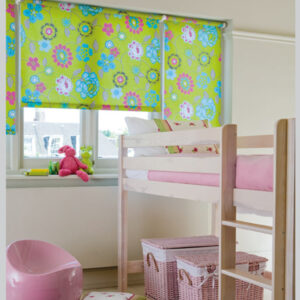 Kids room blackout roller blinds